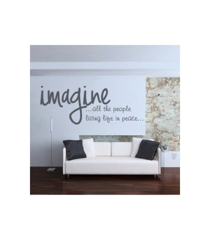 Texto en vinilo decorativo imagine for Vinilos dormitorio de matrimonio