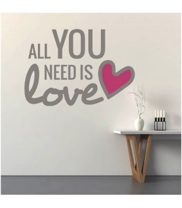 Vinil frase All you need is love