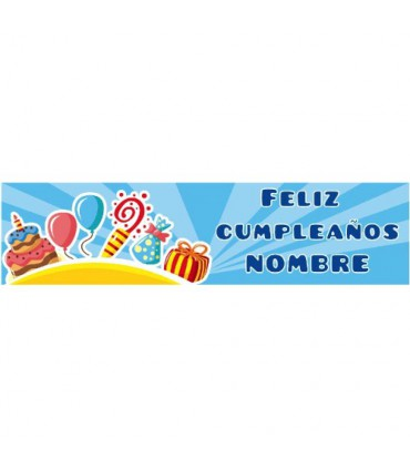 Cartel de Feliz cumpleaños infantil