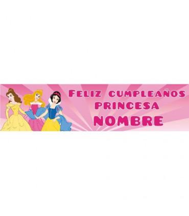 Cartell d'aniversari infantil princesa