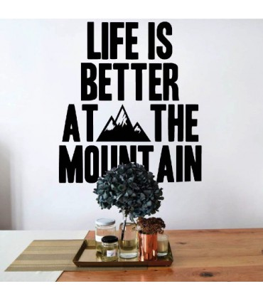 Vinil amb frase decorativa mountain