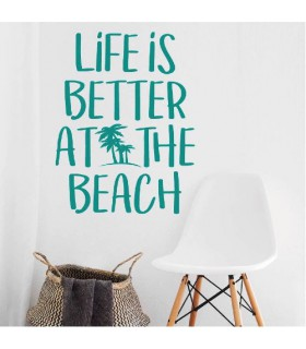 Vinilo frase decorativa beach