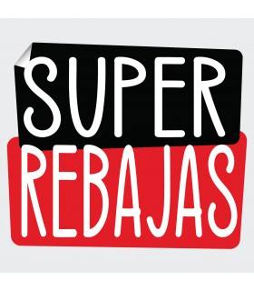 Cartel super rebajas